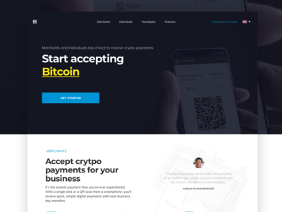Payco Landing Page payment solution blockchain banking crypto payments cryptocurrency design landing page website