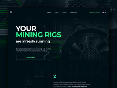 Mining Rigs cloud mining hashpower hardware mining blockchain cryptocurrency mining website