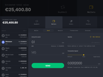 Send Crypto blockchain exchange cryptocurrency app website