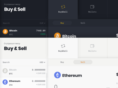 Buy and Sell exchange blockchain cryptocurrency dashboard app website