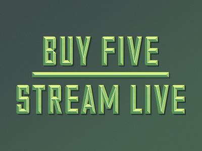 Buy Five | Stream Live bold type gradient green 3d type identity meraki cisco meraki