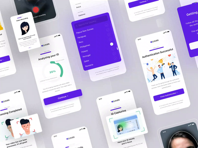 OnBoard by TrustStamp Mobile App authentication user interface user experience ux ui product design mobile app design mobile app animation app biometrics truststamp