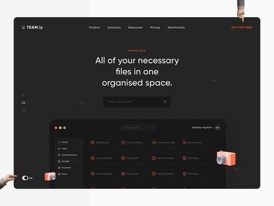 Team.ly Landing Page userinterface product illustrations landing page landing website web design web ux user interface user experience ui product design minimal interface animation after effects 3d