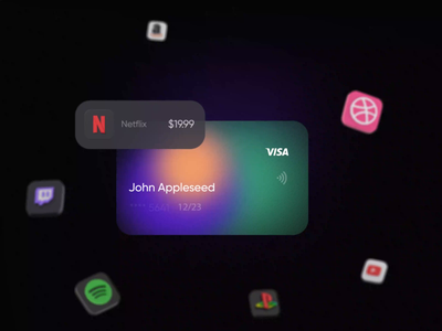 Subscription Tracker App #2 app mobile 10clouds motion graphics ux ui tracking ios aftereffects subscriptions icons 3d animation