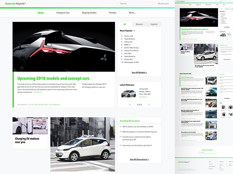 Green Car Reports >> Green Car Reports By Kevin Ulloa Dribbble Dribbble