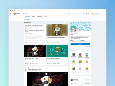 Profile Showcase for Reddit Creators