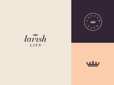 Lavish Life christian crown feminine logo life lavish