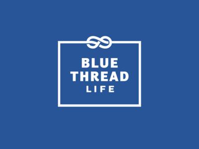 Blue Thread logo lifestyle infinity thread blue