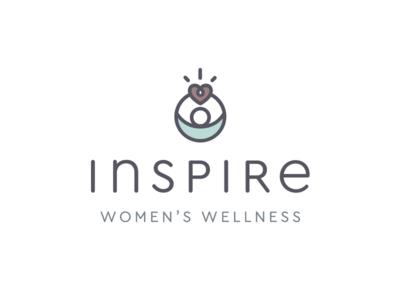 Women's Wellness Logo inspire reach heart wellness health logo women