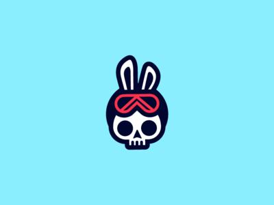Snowboarder Skull Bunny snowboarder goggles gothic winter sports punk bunny skull rabbit