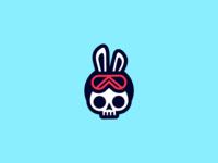 Snowboarder Skull Bunny