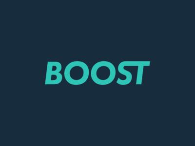 Boost ligature logo boost