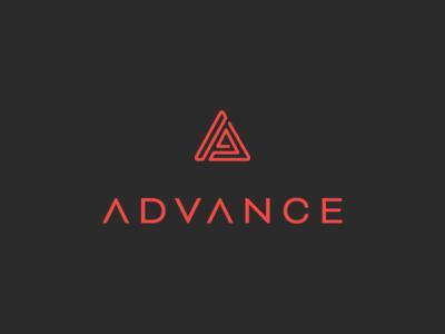 Advance logo outline a advance