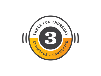 Three For Thursday Logo three broadcast logo commerce news