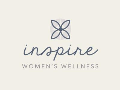 Inspire Wellness Logo script logo health wellness women