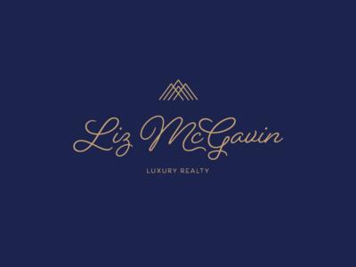 Luxury Realtor Logo navy gold mountains logo realty realtor luxury
