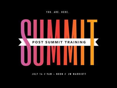 Indy Summit training summer flag invitation gradient summit indy promotion event indianapolis