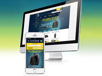 Steiner - Home page concept industrial business steiner homepage uidesign ui landing page splash page web design