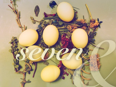 Seven Eggs script easter eggs natural organic easter