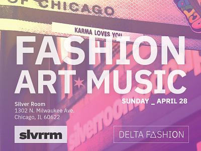Fashion Week event flier print design chicago silverroom fashion flier