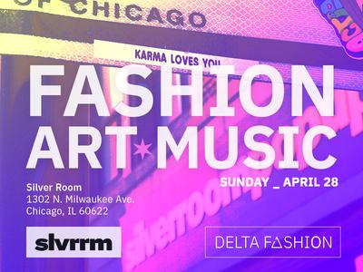 Fashion Week event flier