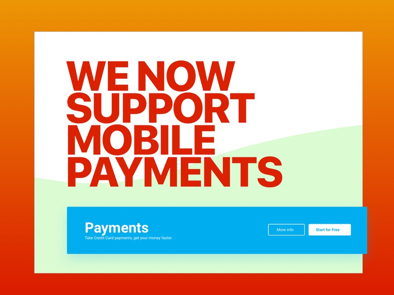 Mobile Payments Promo ux web app dashboard service bridge modal servicebridge user experience