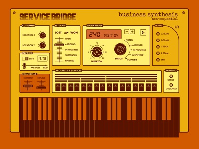 Business Synthesis - ServiceBridge moog music instrument work order frequency lfo synth korg synthesizer servicebridge graphic tees