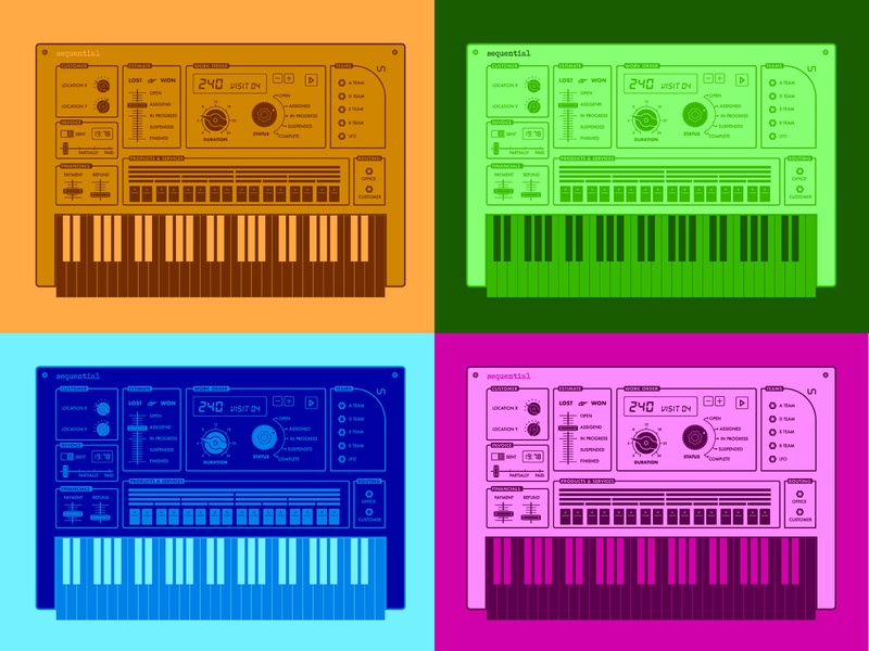 Color Combination Synth music roland korg color synesthesia synthesizers