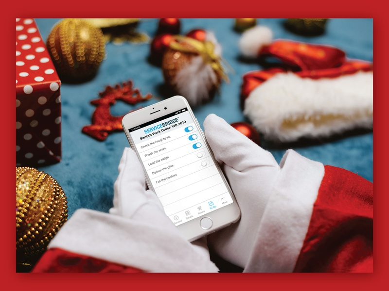 Santa is using ServiceBridge app! field service management phothoshop servicebridge holiday santa