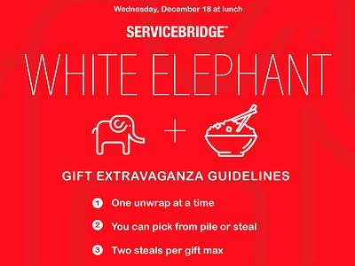 white elephant invitation invitation white elephant white red