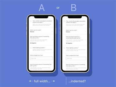 Which one requires less cognitive effort? app ios inputs ios form ios todo user experience ux user experience check checkbox mobile form mobile ui form mobile execute list todolist to-do todo testing