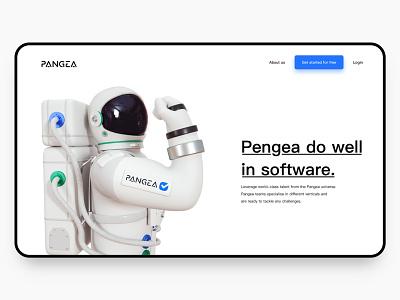 PANGEA series character helmet webdesig website spaceship business website design astronaut illustration cinema 4d design octane c4d