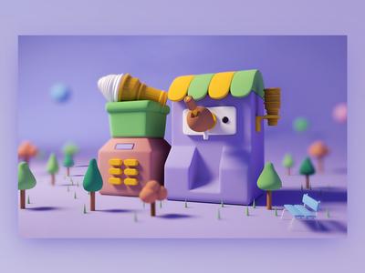 Tiny Ice cream machine
