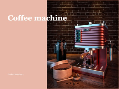 COFFEE MACHIINE coffeebar pot machine cup coffee cup coffeebean rendering product design design octane c4d
