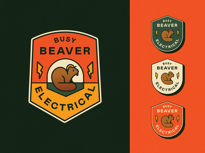 Busy Beaver Badge beavers electrical logo badge beaver