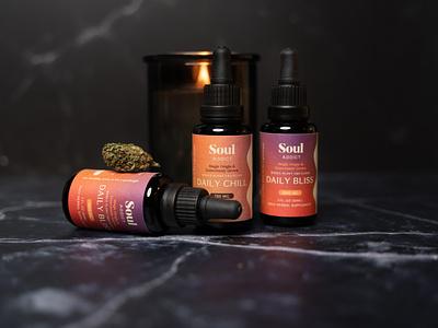 Soul Addict Packaging organic gradient cbd oil beauty packaging wellness manuka honey soul addict cbd