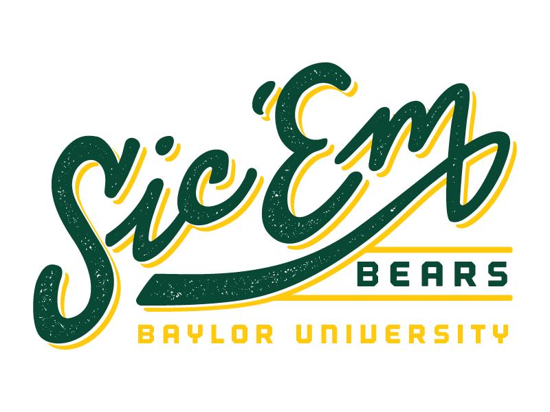 baylor university t shirt lettering football tshirt typography lettering