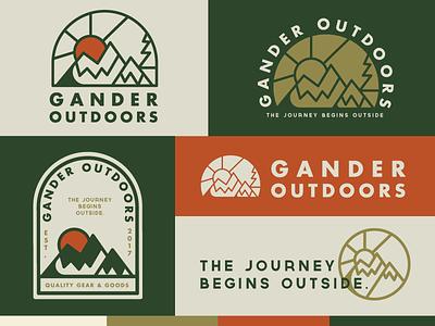 Gander Outdoors Logo badge sun outdoors outdoor icon mountain logo