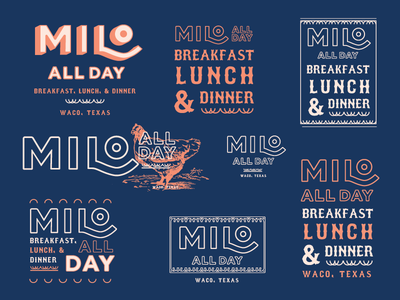 Approved Milo Branding lockups restaurant decorative decor biscuit milo logo