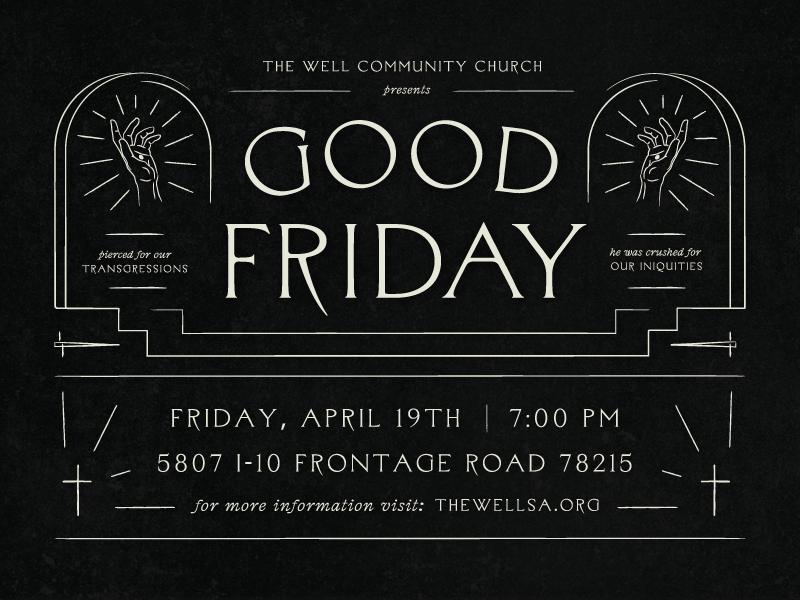 Good Friday jesus invite church sermon hands hand cross good friday