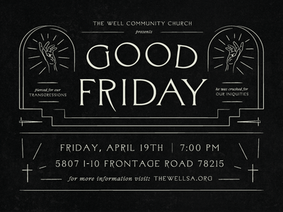 Good Friday jesus invite church sermon hands hand cross good friday