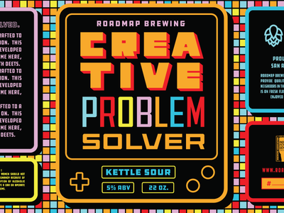Roadmap's Kettle Sour SR sour label beer 90s game boy game special
