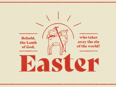 Easter illustration church jesus lamb sermon series easter