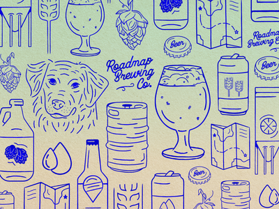 Roadmap Brewing Illustrations process brewing map icons brewery beer illustration