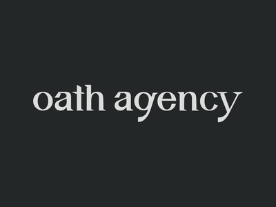 Oath Agency Logo type typography logo agency oath