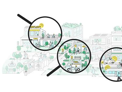 The Lemonade Way Illustration technology lemons community city future smart lemonade