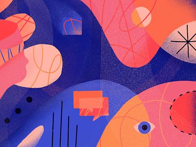 Blog Illustration texture communication illustration blog abstract