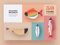 Geometric graphic design - Fish modeling design 2