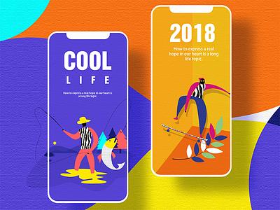 I hope I can have a way of life—01 web ux ui landing interface illustration hero digital colors