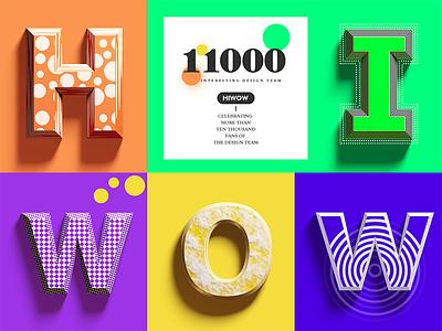 11000 Followers-THANKS ALL! c4d originality collocation art dimensional alphabetical